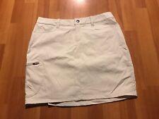 New Patagonia Hiking Skirt Women's Size 6 Beige Color Regular Rise Nylon Spandex