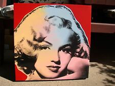 Steve Kaufman - Marilyn Canvas Print Art- Signed Oil Silkscreen - Historical Art