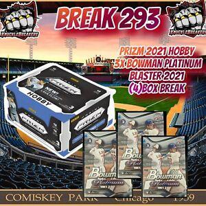 PHILADELPHIA PHILLIES PRIZM HOBBY + (3) BOWMAN PLATINUM BLASTER(4) BOX BREAK 293