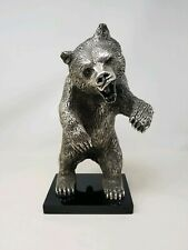 D'ARGENTA SCULPTURE by Claudio Rodriguez ~ Silver Grizzly Bear ~ Only 500 made
