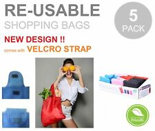 5 x FOLDABLE WATERPROOF Reusable Shopping Storage Bags Handbags Grocery Bag
