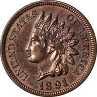1891 Indian Cent Proof Choice PR Great Eye Appeal Strong Strike