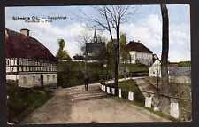 79278 AK Schwerta O.-L. Pfarrhaus Postamt Isergebirge 1919 Lesna