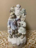 "Porcelain Santa Figure Musical Christmas 10"" (Santa Coming To Town)"