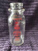 Vintage Pensupreme Dairy Products Glass Half Pint Bottle