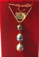 SUPER COLLIER 3PERLES DE TAHITI VERITABLES 6 A 11 MM /OR 18 CARATS / A SAISIR!!!