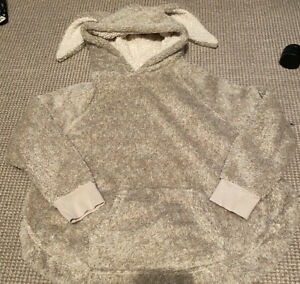 Ladies Next Oversized Fleece Hooded Lounge Top Size Small