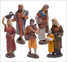 Figura Belen J.L.MayoSerie 11 cms. Conjunto 5 Pastores del camino  BEL908