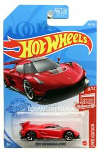 2021 Hot Wheels #86 Red Edition 2020 Koenigsegg Jesko