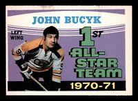 JOHNNY BUCYK 71-72 O-PEE-CHEE 1971-72 NO 255 EXMINT+ 14786