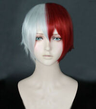 My Hero Academia Todoroki Shouto Wig Shoto Todoroki White And Red Cosplay Wig