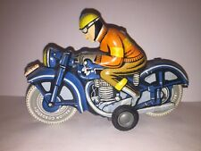 Vintage Ballon Cordatic Tin Litho Friction Motorcycle Working Condition