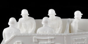 Marx Recast 1:48 scale Seated Germans x 5 - plastic 1990s - white - figures only