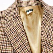 J. Crew Wool Plaid 1 Button Suit Top Blazer Jacket Size 10 Women's