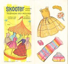 Vintage 1964 Skooter Go Round Paper Dolls ~ Rare Cute~ Uncut Laser Reproduction