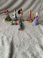 Disney Princess Figures - Merida Belle Pocahonatas Rapunzel Jasmine Fairies