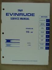 1969 OMC EVINRUDE 115 HP STARFLITE OUTBOARD MOTOR SERVICE REPAIR MANUAL 506613