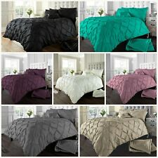 Alexandra Pintuck Luxury Duvet Set Alford Bedding Quilt Cover With Pillowcases