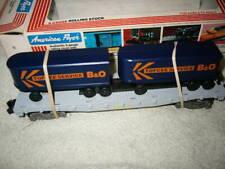 American flyer B&O flat car w/ 2 trailers w/ original box