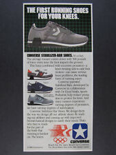 1984 Converse Laser Force-5 & Phaeton running shoes photo vintage print Ad