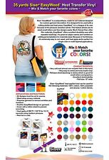 35 YARDS SISER EASYWEED HEAT TRANSFER VINYL (MIX & MATCH YOUR FAVORITE COLORS)