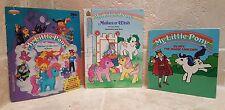 Lot 3 Vintage My Little Pony Books ~ Sticker Collector's Album, Make's a Wish..
