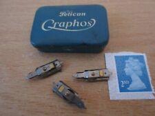 Vintage Pelican Graphos Pen Tin with 3 Pelican Calligraphy Nibs