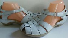 $74 New Caprice White Leather T-Strap 10-10.5 41 Women Beautiful Sandals Germany