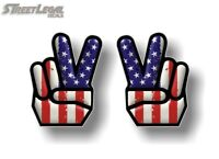 "2 Peace USA 5"" Vinyl Decals American Macbook Symbol Hippie Car Truck Stickers"