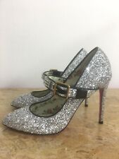 GENUINE GUCCI Crystal Embellished Glitter Sylvie Pumps RRP £740