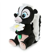 Small FLOWER PLUSH Skunk Figure Toy Bambi Stuffed Animal Doll DISNEY STORE 9.5""