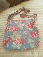 CATH KIDSTON Messenger Bag Large Pockets Floral With Polkadots Lining