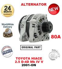 FOR TOYOTA HIACE 2.5 D4D 4WD 2001-ON BRAND NEW OEM ORIGINAL 80A ALTERNATOR