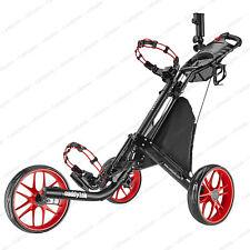 CaddyTek EZ-Fold 3 Wheel Golf Push Cart Golf Trolley  - Red **NEW**