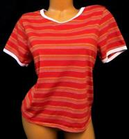 Rue21 red white striped short sleeve crew neck women's plus size tee top XL
