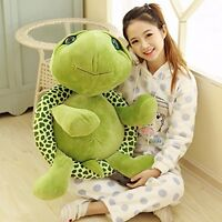 "32"" Giant Big Green Turtle Large Stuffed Soft Doll Pillow Plush Toy Party Gift @"