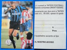 CARTONCINO LEGGERO RITAGLIATO DA INTER FOOTBALL CLUB - RONALDO - cm.6,8X10,7