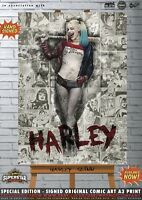 Harley Quinn Margot Robbie Sexy Suicide Squad Batman Comic Superstar A3 Print DC