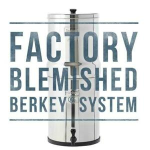 Factory Blemished Big Berkey Water Filter w/ 2 Black Berkey Filters Free Ship
