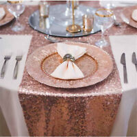 Banquet Wedding Tablecloth Sparkly Mat Glitter Cover Cloth Sequin Table Runner