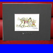 Swarovski Spec. Ed. Winnie The Pooh Hand Drawn Disney Lithograph w/ Certificate