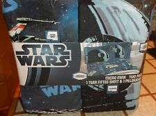 Star Wars Micro Mink Twin Fitted Sheet Set Pillow Case Death Star