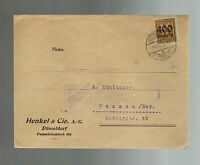 1923 Dusseldorf Germany Inflation cover to Passau 400 RM