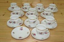 """Bernadotte Floral-Czech Sonata (11) Demitasse Cups, 2 1/4"""" & (12) Saucers, 4¾"""""""