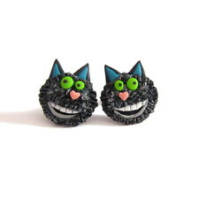 Black Cat Winnie The Witch Funny Wilbur Girls Gifts Ideas Spooky Fimo Earrings