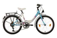 """Kinderfahrrad 20"""" Rad Fahrrad 6-Gang Dacapo Florida Weiss-Blau RH 34 Cm 402D"""