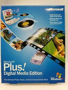 Microsoft Plus Digital Media Edition New Sealed Genuine