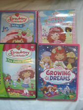 Lot of 5~Strawberry Shortcake~Tea Party Game Dreams Pets~DVD~LBDVN