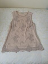Oasis Size Small Cream/Beige Lace Top