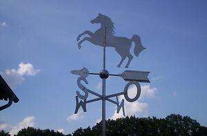 Wetterfahne, Wetterhahn,  Edelstahl, Springendes Pferd,  Wetterfahnen Knirsch